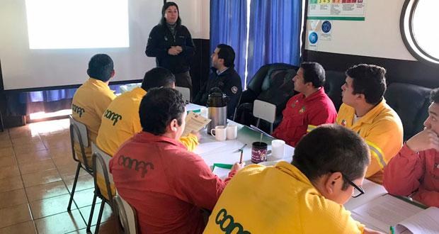La actividad se realizó este miércoles 9 de octubre, en la base de brigada Lingue 5, ubicada en Choroico, comuna de La Unión.